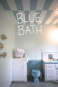Blue Bathroom House Tour