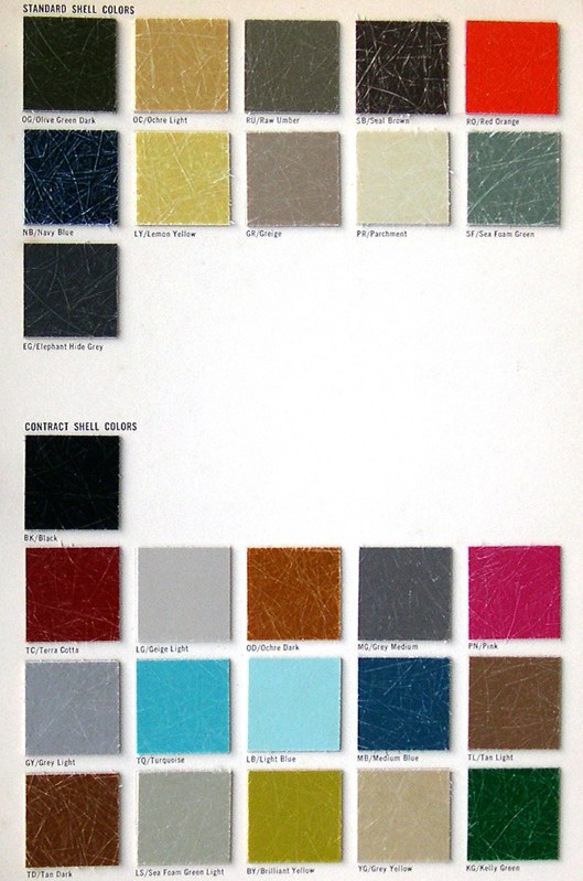 1964 Herman Miller Eames Shell Chair Catalog Colors