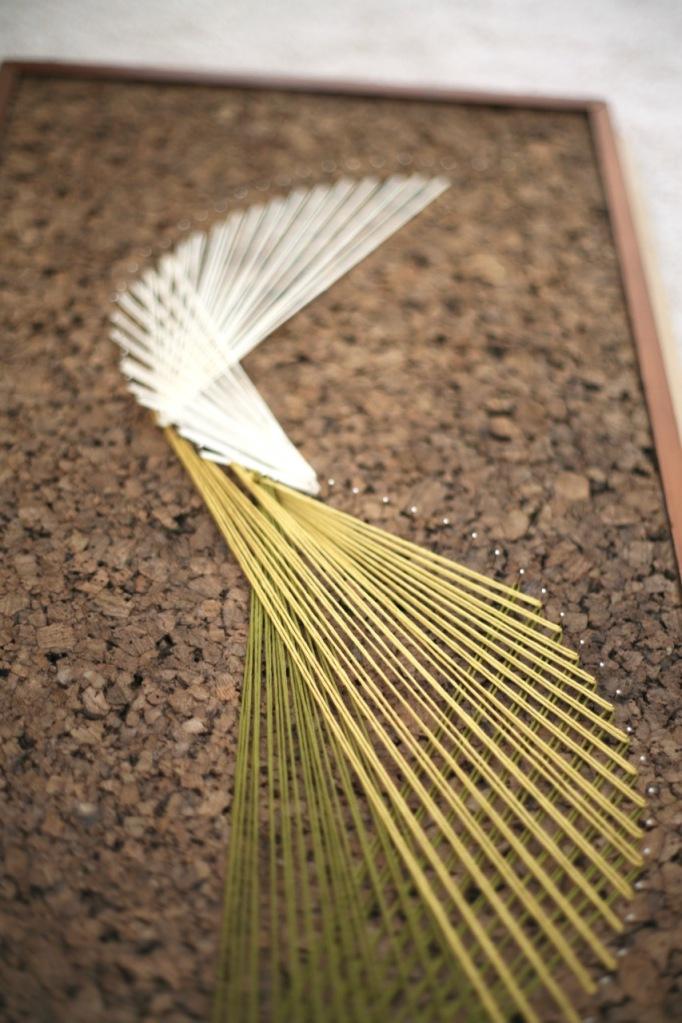 DIY String Art Cork Thread how to make string art pins nails
