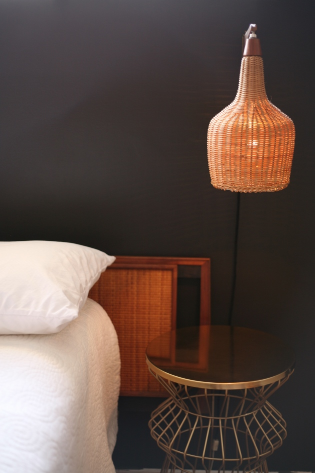 Danish headboard and sconce