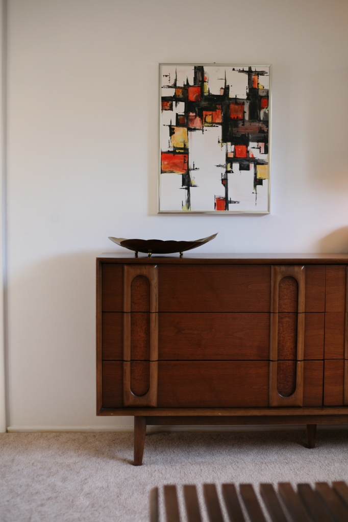 mid century abstract painting lane dresser