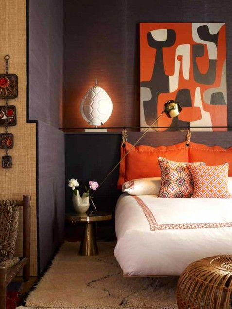 Jonathan Adler Black Orange room