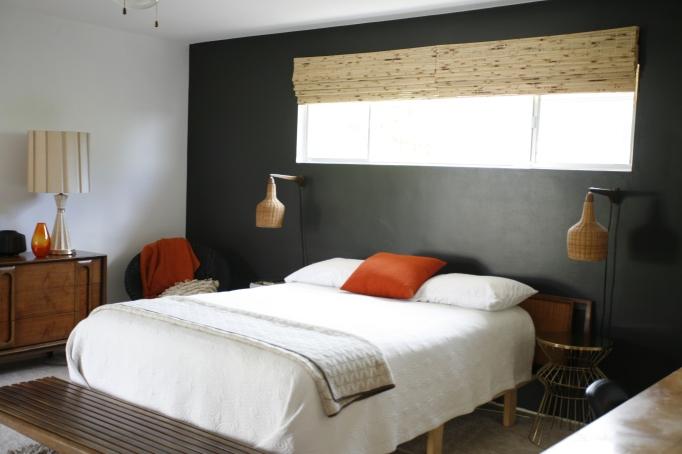 Bamboo shades blinds bedroom