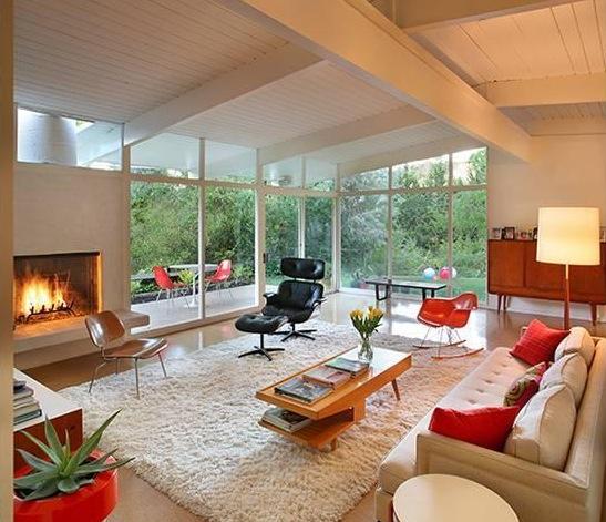 white living room mid century takesunset