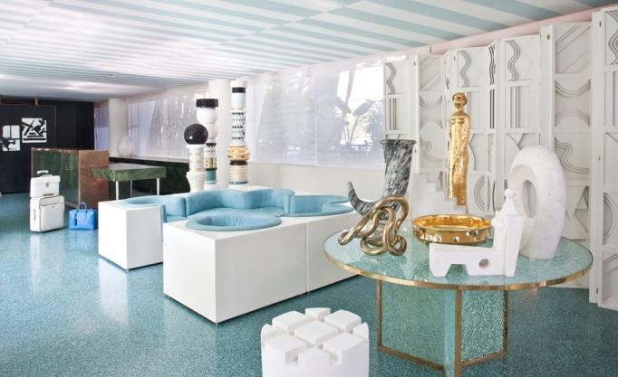 Avalon Beverly Hills Lobby Stripes