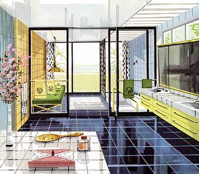 better homes garden 1960's vintage bathroom