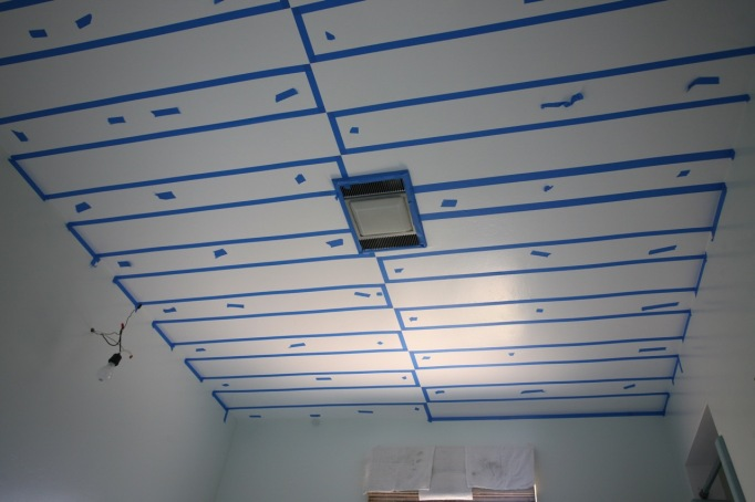 how to paint stripes ceiling