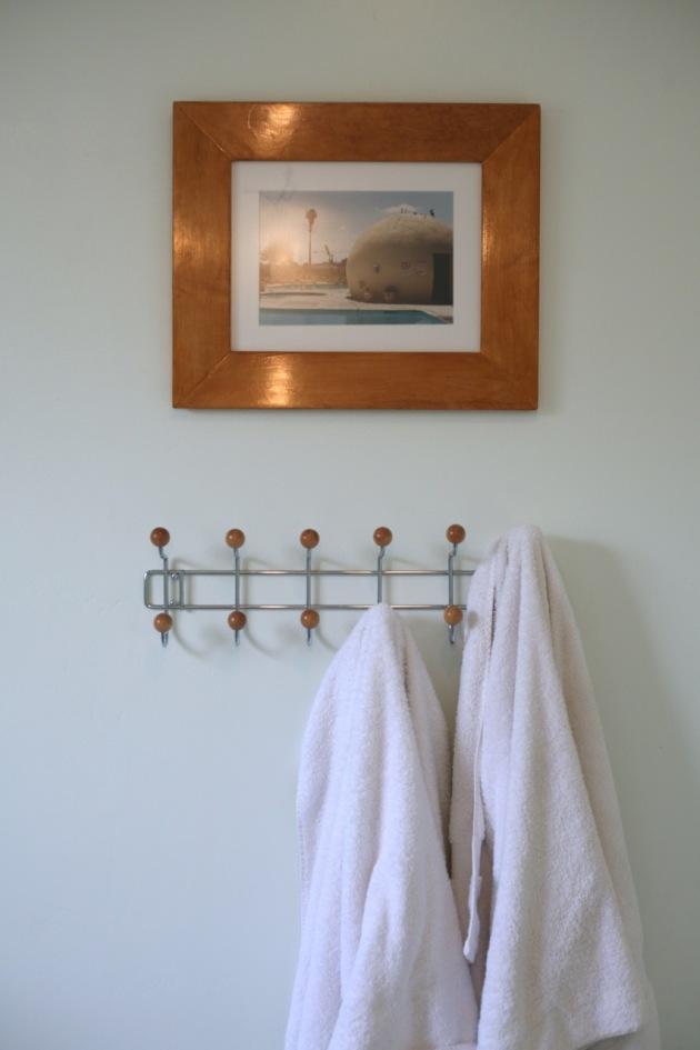 towel rack bathroom wood ball eames