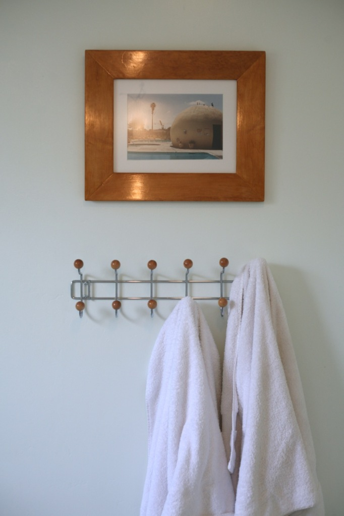 towel rack bathroom wood ball eames