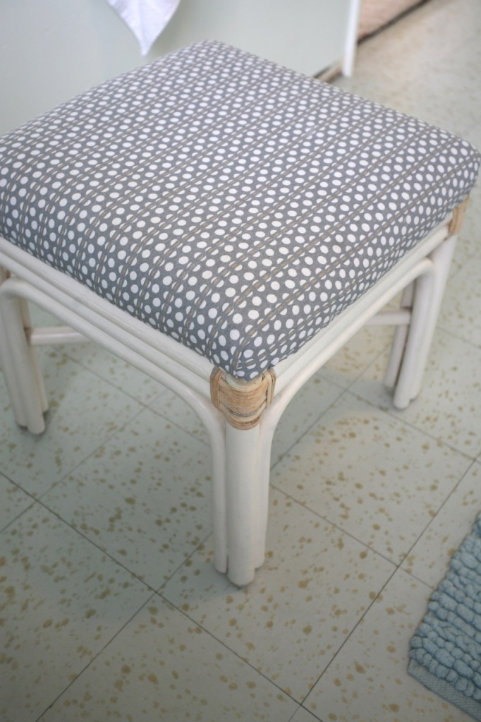 vintage bamboo stool