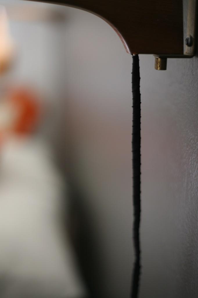 Wrapping lamp cord DIY black