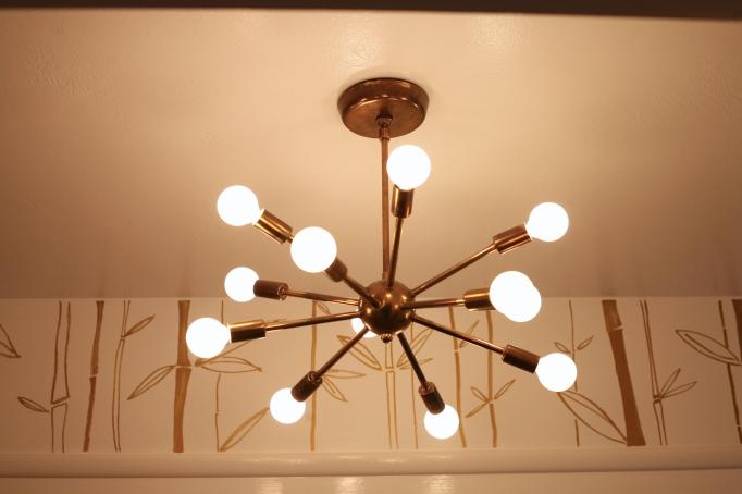 mid century sputnik light