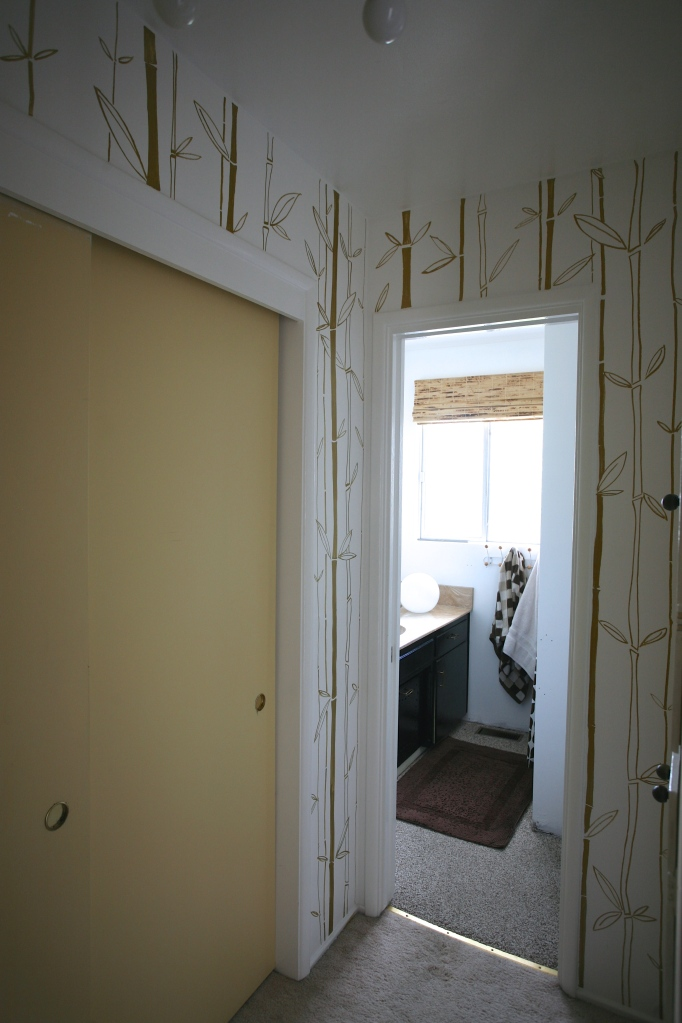faux bamboo wallpaper paint pen walls