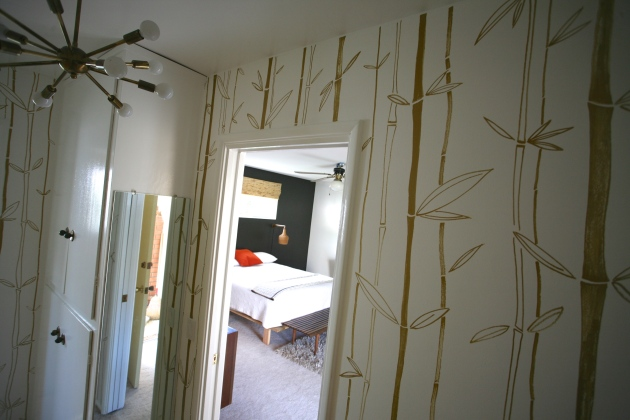 faux bamboo wallpaper paint pen walls