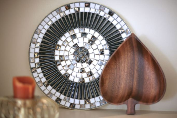 vintage mosaic dish