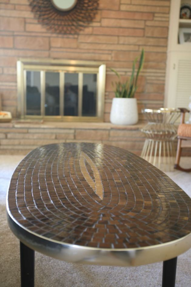 Mid century mosaic coffee table