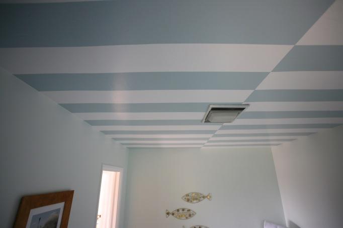 cabana stripes ceiling