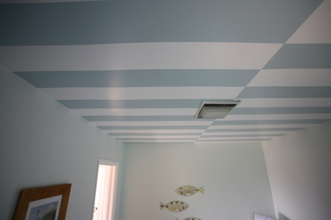 cabana stripes ceiling