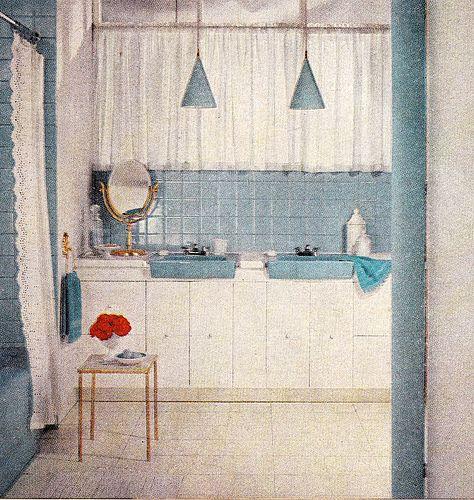 mccalls 1959 blue bathroom vintage sinks
