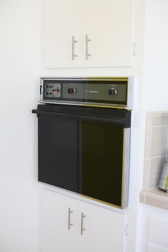 vintage hotpoint oven black mid century 60's