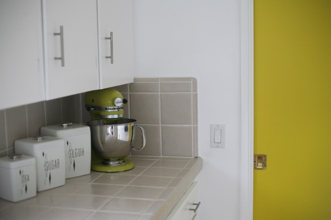 pear yellow kitchenaid mixer vintage canisters
