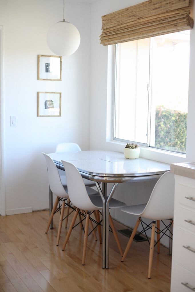 Eames chairs white kitchen formica vintage table