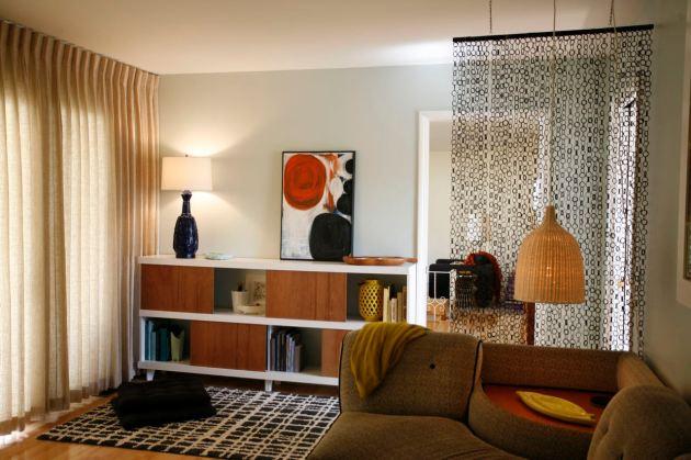 Mid Century Family Living Room Bookshelf
