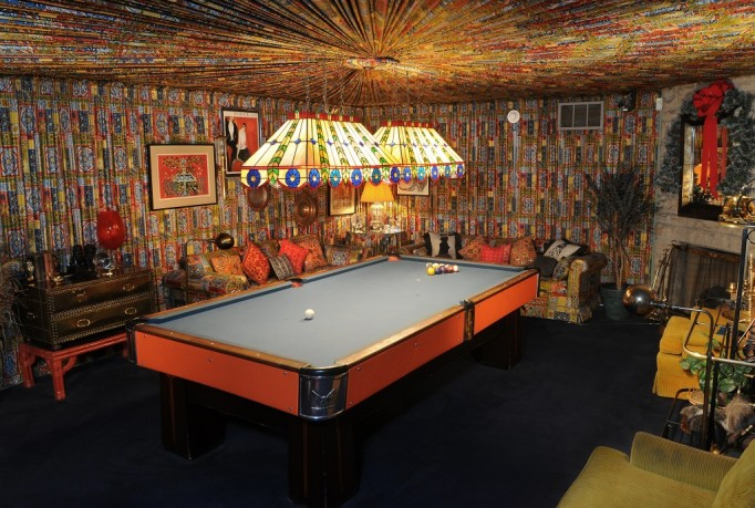 Graceland Elvis House Interior Billiard Game Room
