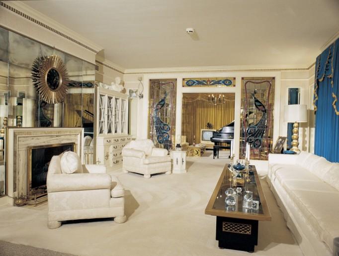 Graceland Elvis House Interior Living Room