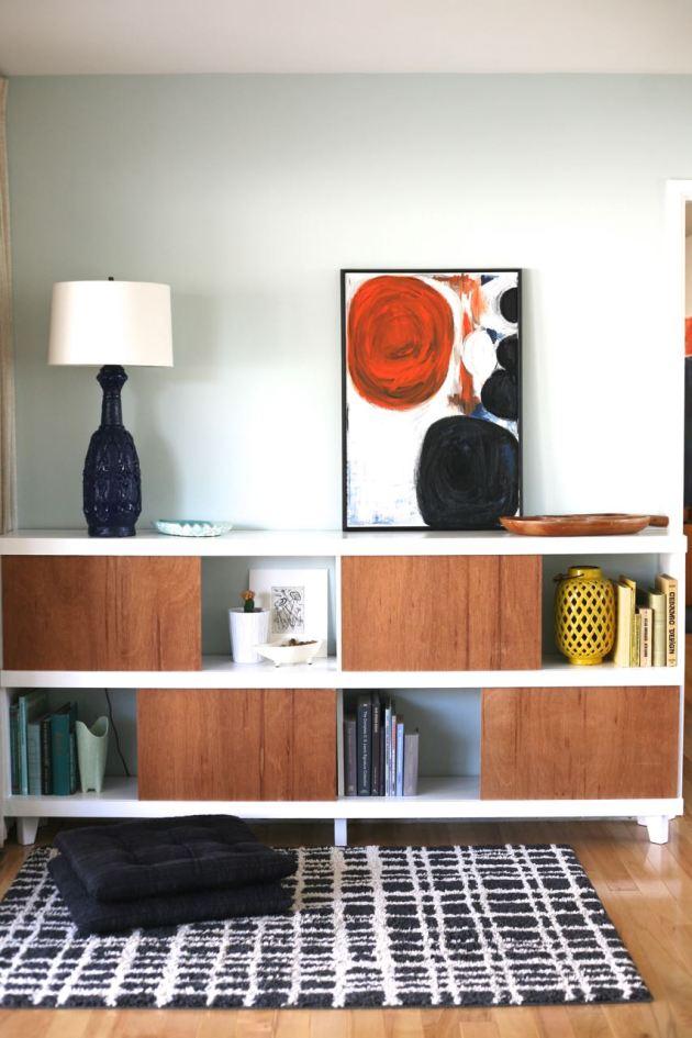 Mid century danish bookshelf sliding doors