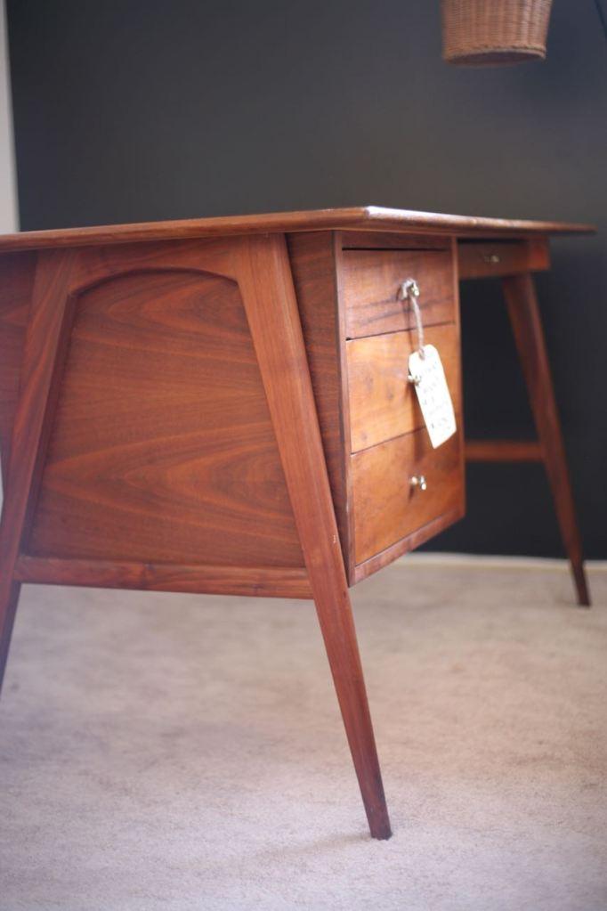 Mid Century Modern Desk Danish Teak