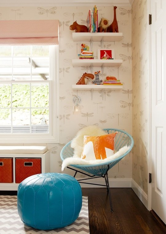 apartment therapy kids childrens room modern acupulco chair wallpaper
