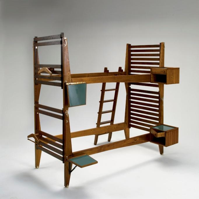 danish modern bunk bed carlo mollino vintage mid century