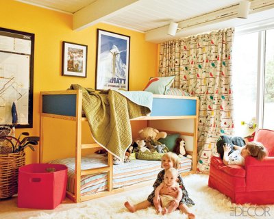 elle decor bunk beds kids childrens room ikea kura modern mid century