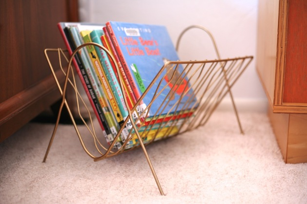 Children's Kids room book storage vintage magazine rack modern unique