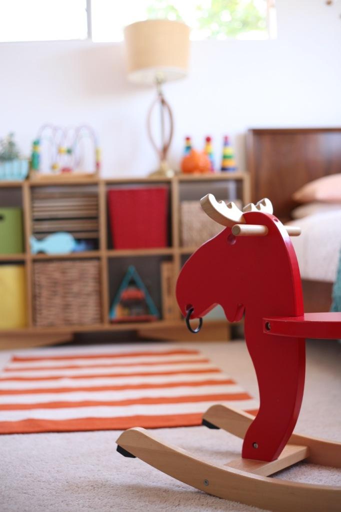 ikea rocking moose horse modern children's room