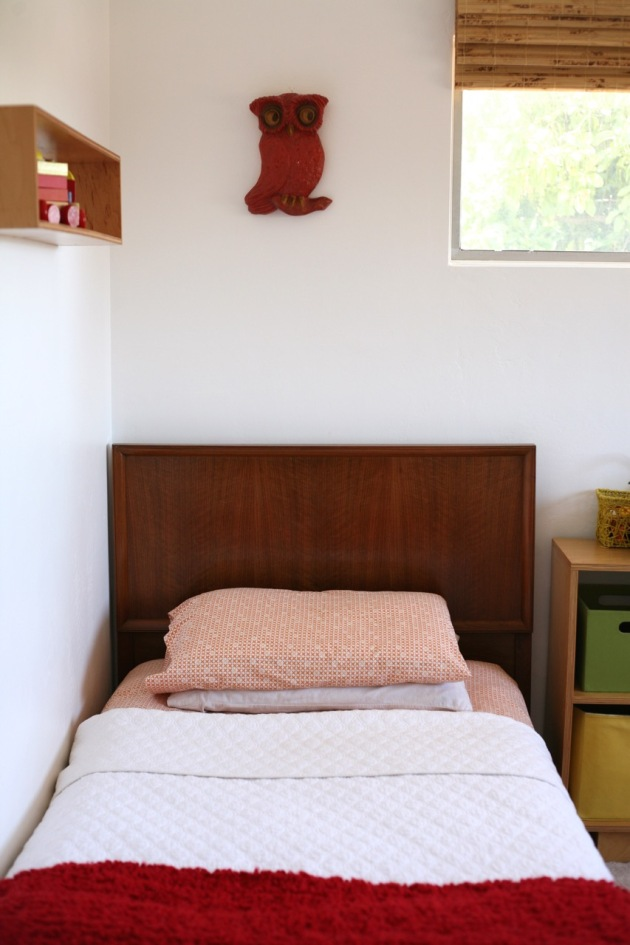 Danish modern bed kids room owl