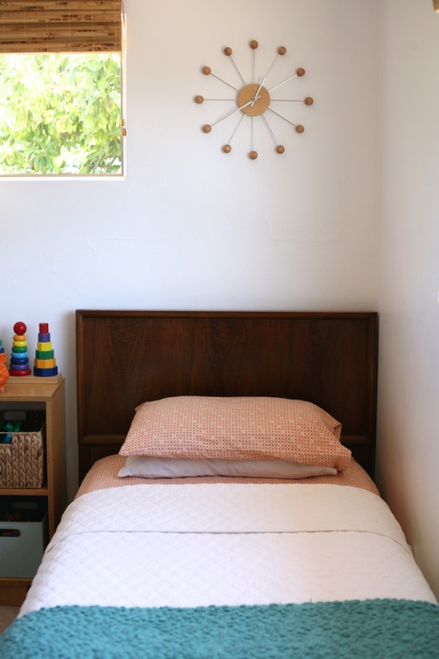 Danish modern bed kids room nelson clock