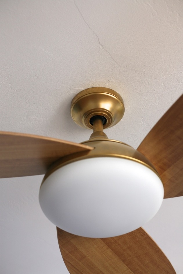 My Favorite Ceiling Fan…and I Painted it Gold