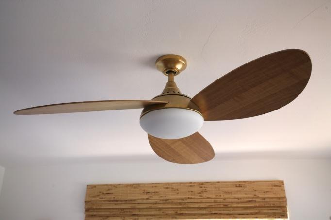 Spray Painting a Ceiling Fan Gold Brass Modern Light Wood Mid Century Harbor Breeze Avian Ceiling Fan