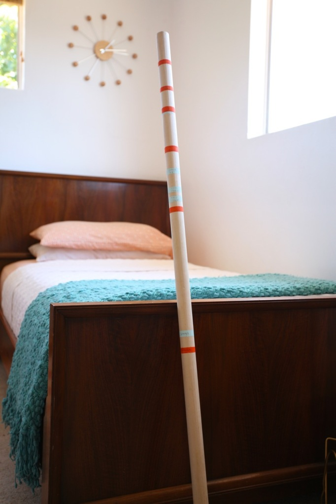 DIY Portable Growth Chart Kids Children Martha Stewart Measuring Rod Modern