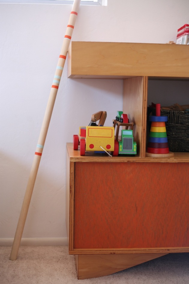 DIY Portable Growth Chart Kids Children Martha Stewart Measuring Rod Modern Room