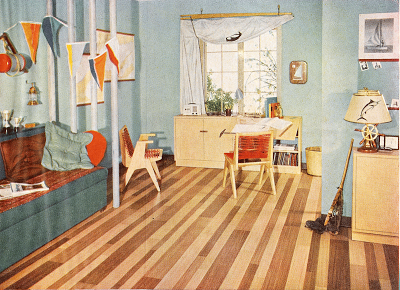 vintage mid century kids childrens bedroom