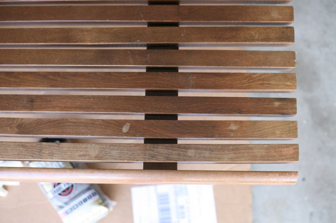 Howards Restore a Finish Mid Century Furniture Slat Bench Walnut