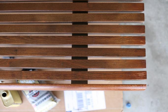 Howards Restore a Finish Mid Century Furniture Slat Bench Walnut