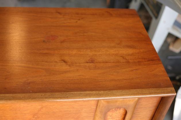 Howards Restore A Finish Vintage Mid Century Lane Dresser Walnut Burl