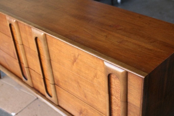 Howards Restore A Finish Vintage Mid Century Lane Dresser Walnut Burl