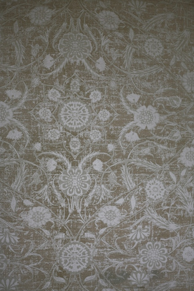 vintage 1970's wallpaper metallic olive green