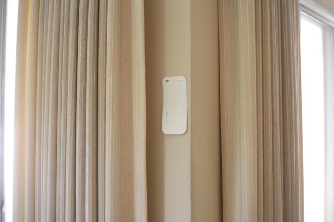 cream curtains white walls