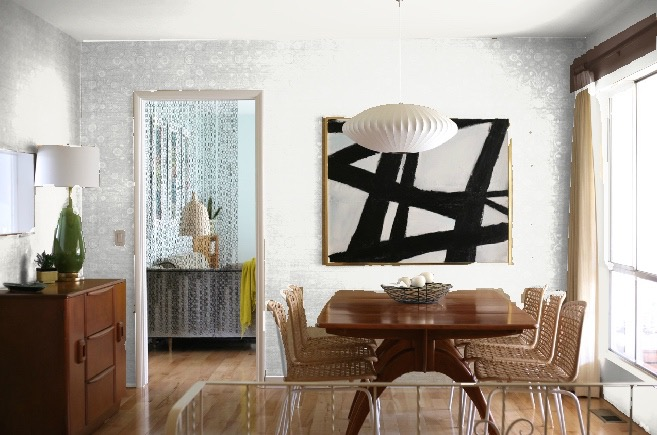 dining room accent wall colors white